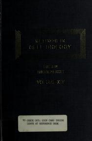 Cover of: Methods in Cell Biology   David M. Prescott